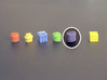 Leave stack Tokens (13 pcs) 3d printed White Stong Flexible token, painted. Other tokens and 8mm cube for scale.
