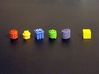 Goods Tokens (5 sets of 13 pcs) (65 pcs) 3d printed Painted tokens. 8mm cube for scale.