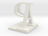 Two way letter / initial A&P 3d printed