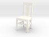 Miniature 1:48 Kitchen Chair 3d printed