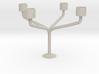Candlestick for 4 candles/Kandelaar voor 4 Kaarsen 3d printed
