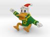 Oregon Duck Santa Ornament 3d printed