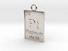 Platinum Periodic Table Pendant 3d printed