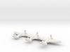 Spitfire Mk. I/V  (Triplet) 1/900 3d printed