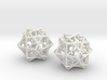 Escher Tricube Earrings from Waterfall 3d printed