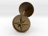 Compass cufflinks 3d printed