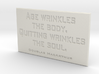 Age wrinkles the body 3d printed