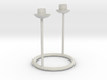 Candlestick for 2 table candles 21-22mm/Kandelaar  3d printed