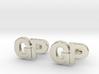 Monogram Cufflinks GP 3d printed