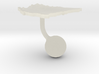 Nicaragua Terrain Cufflink - Ball 3d printed