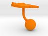 Mongolia Terrain Cufflink - Ball 3d printed