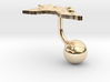 Papua New Guinea Terrain Cufflink - Ball 3d printed