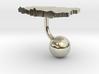 Poland Terrain Cufflink - Ball 3d printed