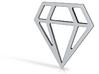 Flat Diamond Pendant VI-08-0003-1006 3d printed