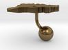 Andorra Terrain Cufflink - Ball 3d printed