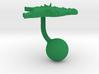 Brazil Terrain Cufflink - Ball 3d printed