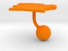 Ivory Coast Terrain Cufflink - Ball 3d printed