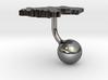 Germany Terrain Cufflink - Ball 3d printed