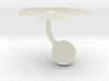 Estonia Terrain Cufflink - Ball 3d printed