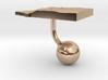 Equatorial Guinea Terrain Cufflink - Ball 3d printed