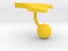 Kuwait Terrain Cufflink - Ball 3d printed