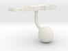 Lebanon Terrain Cufflink - Ball 3d printed
