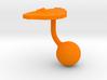 Sri Lanka Terrain Cufflink - Ball 3d printed