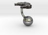 Laos Terrain Cufflink - Ball 3d printed