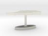 Morocco Terrain Cufflink - Flat 3d printed