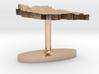 Mongolia Terrain Cufflink - Flat 3d printed