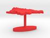 Slovenia Terrain Cufflink - Flat 3d printed