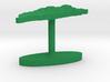 Taiwan Terrain Cufflink - Flat 3d printed