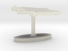 Ukraine Terrain Cufflink - Flat 3d printed