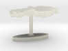 Gabon Terrain Cufflink - Flat 3d printed