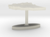 Ethiopia Terrain Cufflink - Flat 3d printed