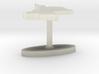 Guyana Terrain Cufflink - Flat 3d printed