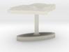 Ghana Terrain Cufflink - Flat 3d printed