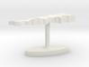 Lebanon Terrain Cufflink - Flat 3d printed