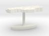 Lesotho Terrain Cufflink - Flat 3d printed