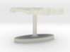 Kazakhstan Terrain Cufflink - Flat 3d printed