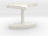 Cameroon Terrain Cufflink - Flat 3d printed