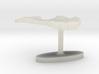 Latvia Terrain Cufflink - Flat 3d printed