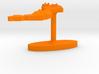 Vietnam Terrain Cufflink - Flat 3d printed