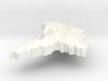 Moldova Terrain Silver Pendant 3d printed