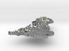 United Kingdom Terrain Silver Pendant 3d printed