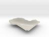 Libya Terrain Silver Pendant 3d printed