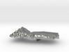 Yemen Terrain Silver Pendant 3d printed