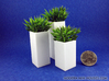 Triple Pedestals or Planters 1:12 scale 3d printed plants not included