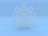 Snowflake Earrings 2 3d printed