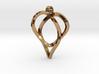 Trefoil Knot Heart Pendant 3d printed